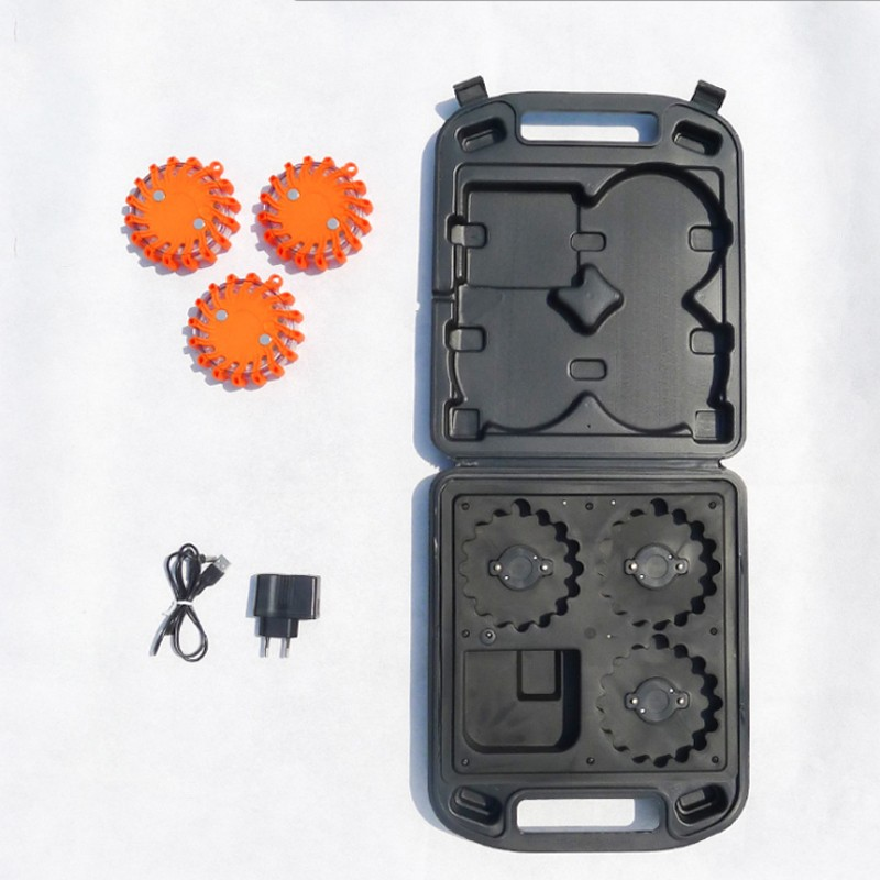 3pcs Traffic Warning Light with Rechargeable Case