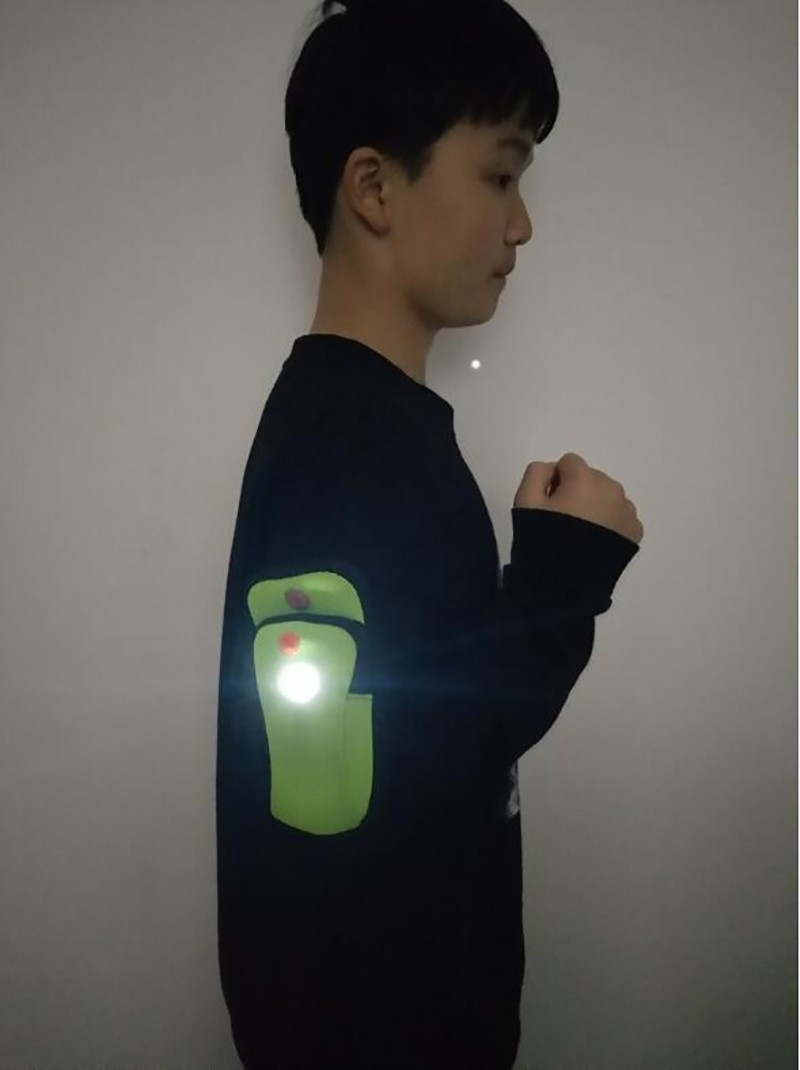 Outdoor Sports Led Arm Pocket with 1pc Warning LED