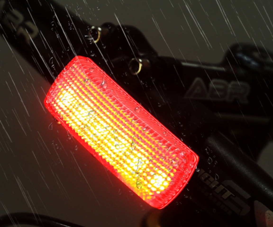Red White Led bicycle light with USB