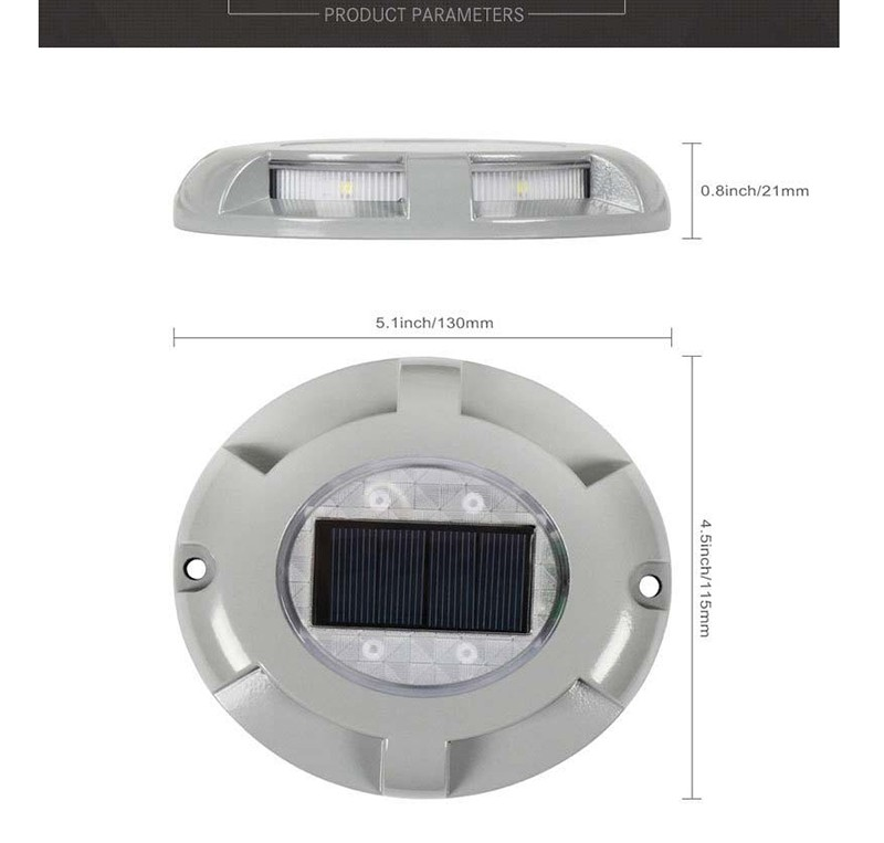 Solar Underground LED Road Stud Light with Light Sensor Long Running Time